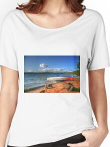 Blue Lake, Ontario, Canada Women's Relaxed Fit T-Shirt