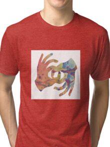 INK BLOT OKAY HANDS Tri-blend T-Shirt