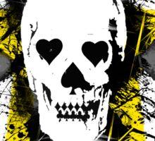 Poker skull with splater  Sticker
