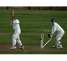 Owzat III Bowled Out!!! Photographic Print