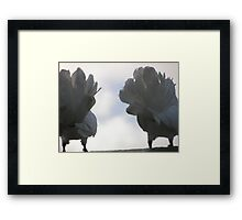 Show 'em your best side Framed Print