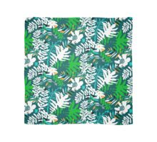 Floral pattern with tropical leaves and flowers in green Scarf