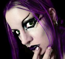 Self Portrait: Purple by Marie Arneklev