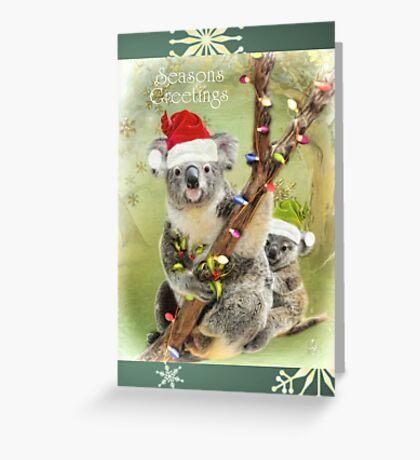 Christmas Koala's Greeting Card