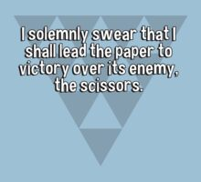 I solemnly swear that I shall lead the paper to victory over its enemy' the scissors. by margdbrown
