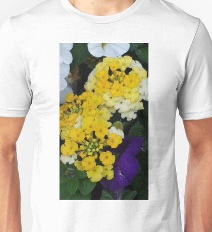 Yellow and White Bloom Collection Unisex T-Shirt