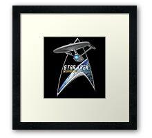 StarTrek Command Silver Signia Enterprise 1701  2 Framed Print