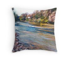 Rocks along the Goulburn Throw Pillow