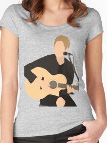 Luke Hemmings 2 Women's Fitted Scoop T-Shirt