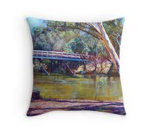 The Historic Goulburn Bridge - Seymour Throw Pillow