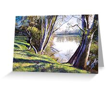 The Goulburn River - Upstream Greeting Card