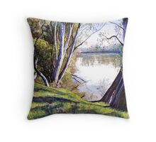 The Goulburn River - Upstream Throw Pillow