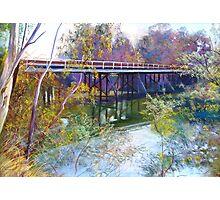 Old Goulburn Bridge (Seymour) No. 1 Photographic Print