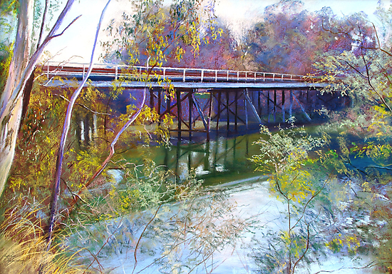 Old Goulburn Bridge (Seymour) No. 1 by Lynda Robinson