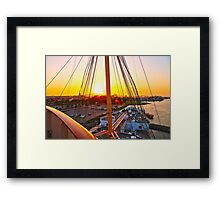 Queen Mary Sunset Over the Bow Framed Print
