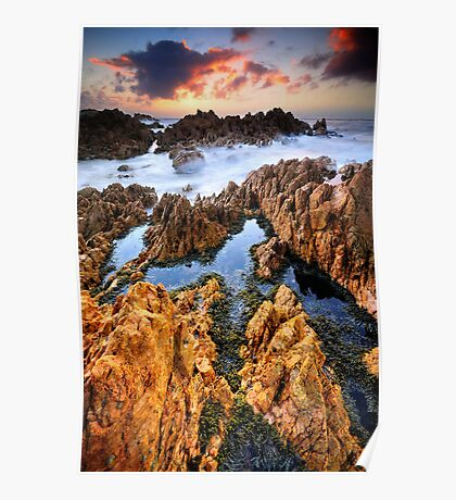 Rockpools and Quartzite Poster