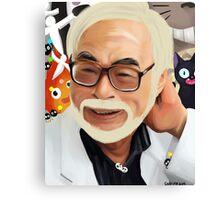 Hayao Miyazaki Portrait  Canvas Print