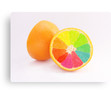 Tutti Frutti Orange Canvas Print