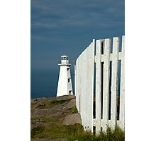 Working lighthouse at Cape Spear Photographic Print