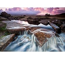 Dawn Falls Photographic Print
