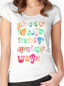 Alphabet Soup Women's Fitted Scoop T-Shirt