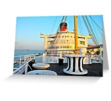 RMS Queen Mary Bow Greeting Card