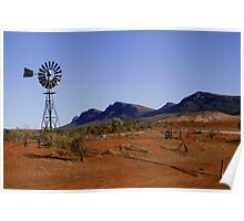 Wind Pump in the Australian Outback Poster