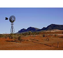 Wind Pump in the Australian Outback Photographic Print