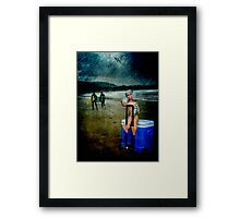 Rolling Rock Beach BARBIE Framed Print