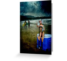 Rolling Rock Beach BARBIE Greeting Card
