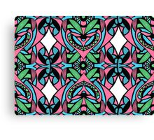 Red blue green pattern Canvas Print