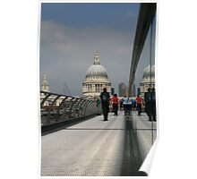 The walk to St Pauls Poster