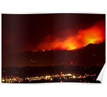 Burning Skies Above Boulder Poster