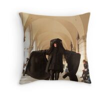 the phantom of the carnival Throw Pillow