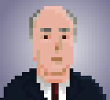 Alfred Hitchcock by pixelfaces