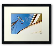 Queen Mary Flags Framed Print