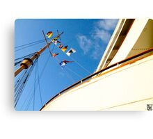 Queen Mary Flags Canvas Print