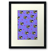 Beelock print Framed Print