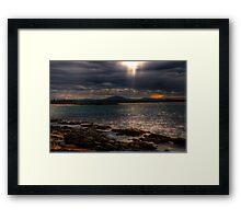 sunset forster Framed Print