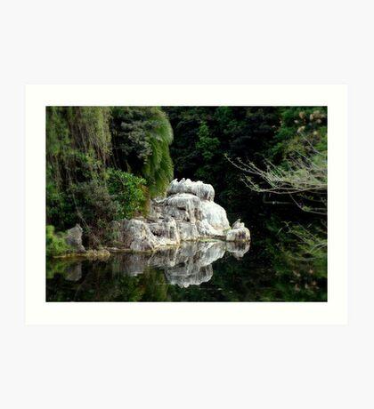 'On The Rocks' Art Print