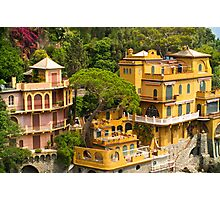 Cliffside Houses Photographic Print