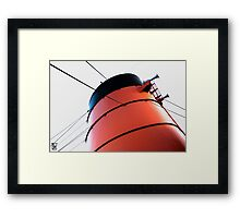 Queen Mary Funnel Framed Print