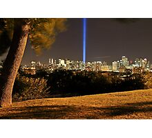 My tree at the park With 9/11 Memorial Lights Photographic Print