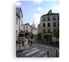Montmartre Street Canvas Print