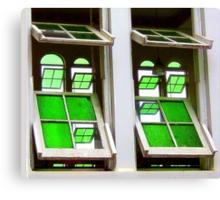 Green Glass Views Green Glass Windows Canvas Print