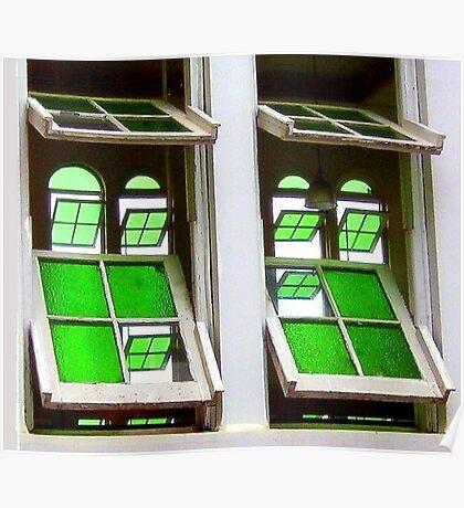 Green Glass Views Green Glass Windows Poster