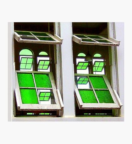 Green Glass Views Green Glass Windows Photographic Print