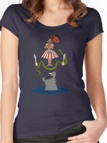 Jungle Cruise vs. Haunted Mansion Women's Fitted Scoop T-Shirt