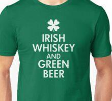 Irish whiskey and green beer Unisex T-Shirt