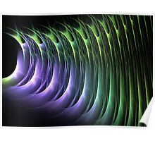 Shining green and purple Poster
